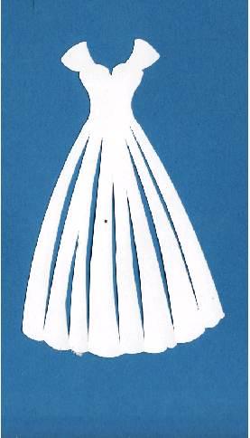 Paper crafts die cut brides dress acid free paper for Acid free cardboard box for wedding dress
