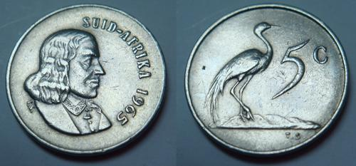 Other Republic Of South Africa Coins 1965 5c Coin