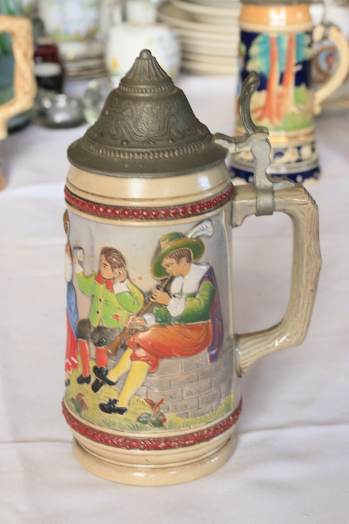Tankards Decorated German Beer Stein Original Gerzit Genz Was Listed For On 9 Dec At