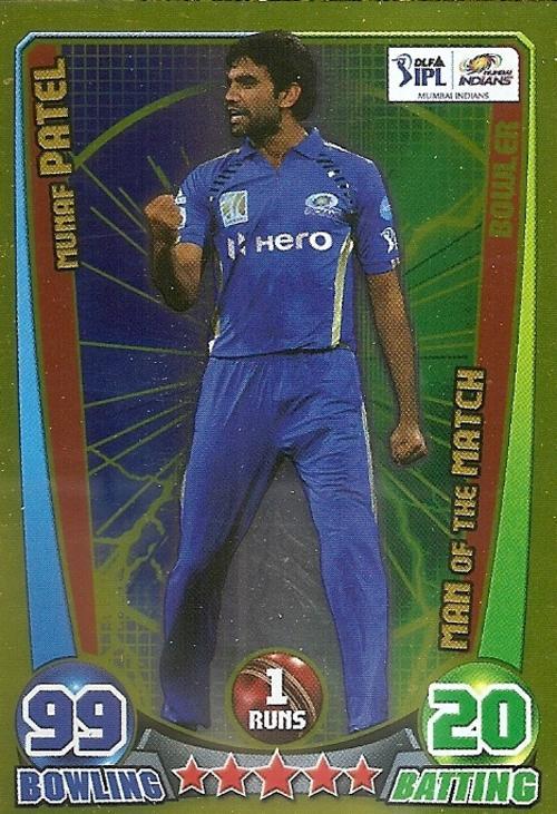 Cricket attax cards
