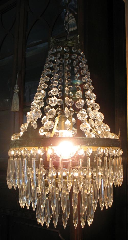 Chandeliers - Lovely vintage French crystal waterfall chandelier ...