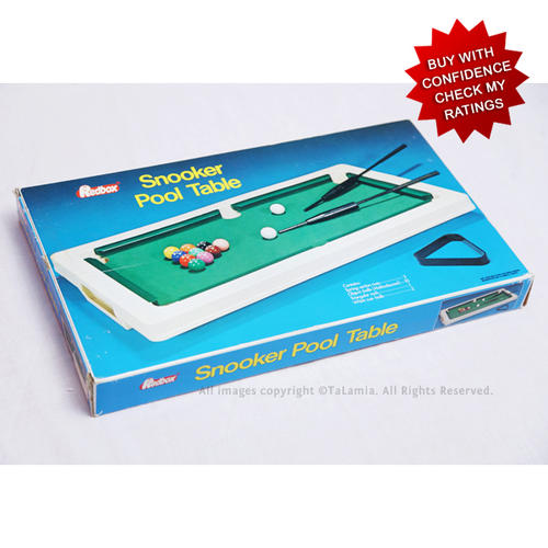 Vintage Toys Vintage Miniature Snooker Pool Table By Redbox Was - Pool table ratings