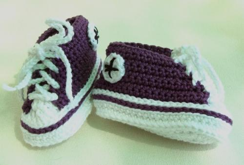 2514d8478f1c47 ... coupon code for crocheted baby converse tekkies newborn size 5aed2  bf47d ...