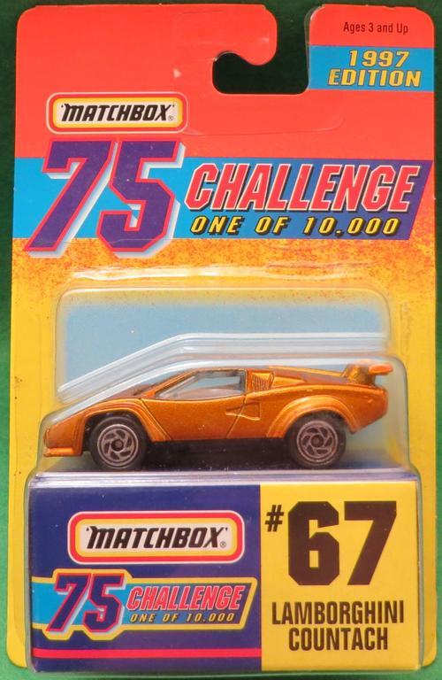 Collectable Cars Matchbox Gold 75 Challenge Lamborghini