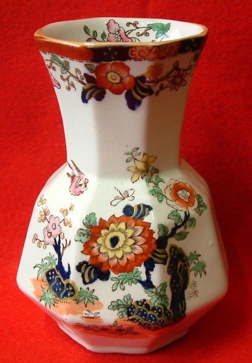 English Porcelain Masons Ironstone China Vase Circa 1830 1840