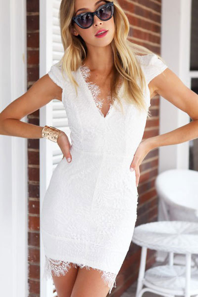 Formal Dresses Yde White Milk Bodycon Dress Size S Was Sold For