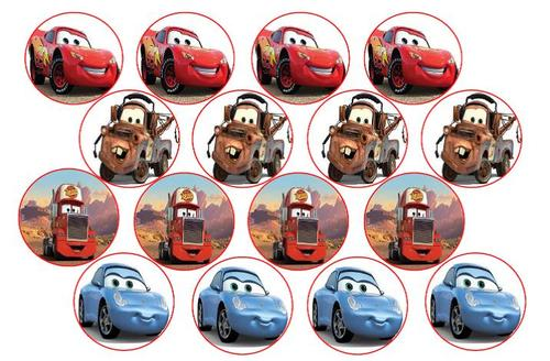 Cars Edible Picture Cupcake Toppers Wafer Rice Paper