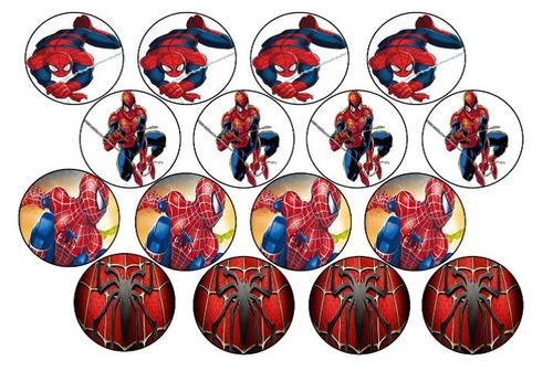 Spiderman Cupcake Images : Cake Decorating - Spiderman Edible Picture Cupcake Toppers ...