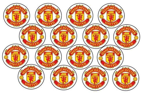 cake decorating man united football cupcake toppers wafer rice paper was sold for r21 50 on 9 aug at 03 16 by the cotton tree in durban id 105647809 bid or buy