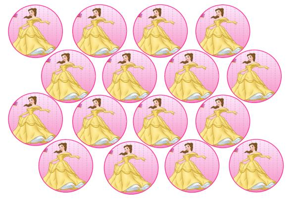 Cake Decorating Belle Edible Picture Cupcake Toppers was listed