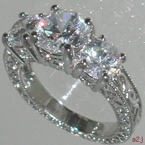 Engagement Rings Vintage Style 1 5ct Past Present Future