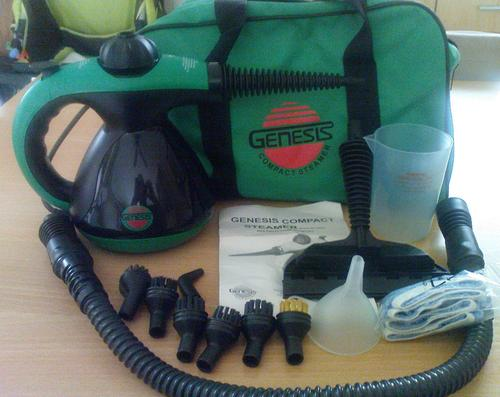 Steam Cleaners Genesis Green Compact Steam Cleaner