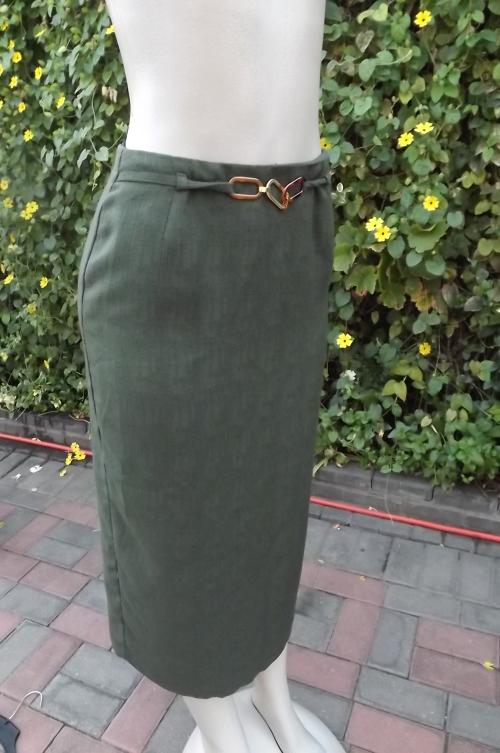 skirts ankle length pencil skirt in hunters