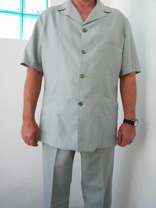 Suits Men S Light Sea Green Safari Suit By Sterling Was
