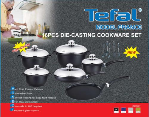 cookware sets - 16pcs tefal diecast cookware first on bob dont miss