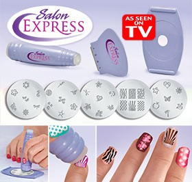 Nails Salon Express Nail Art Stencil Stamping Kit Designs Like A