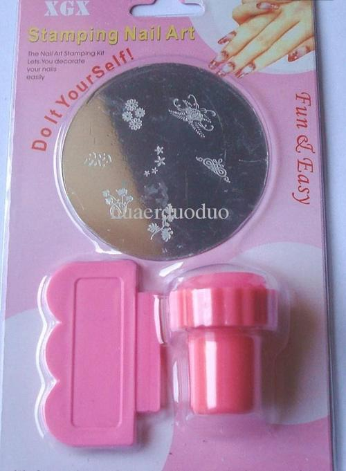Nails - Stamping Nail Art Kit + Extra Plate was sold for R1.00 on 26 ...