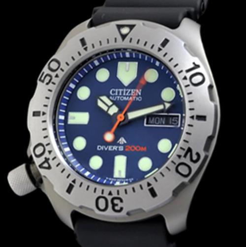 Men 39 s watches citizen ny0054 04lb titanium automatic 200m divers watch overnight delivery - Citizen titanium dive watch ...