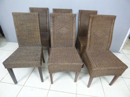 Chairs & Loungers 6 WONDERFUL ALL WEATHER RATTAN OUTDOOR PATIO CHAIRS