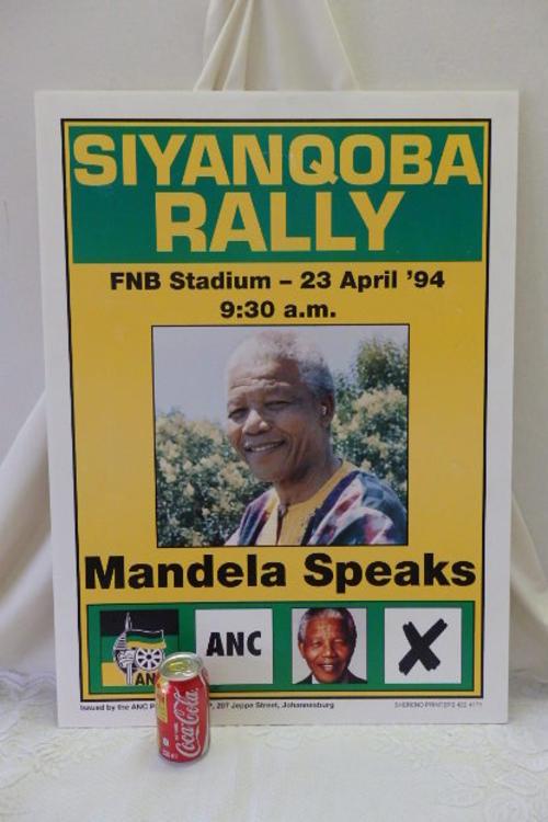 Posters - A FANTASTIC ORIGINAL 1994 ANC CAMPAIGN ELECTION ...
