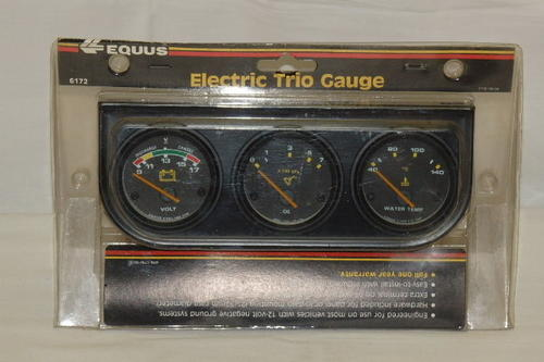 Electronic Voltmeter Gauges Oil And Water : Other parts accessories an equus electric trio gauges