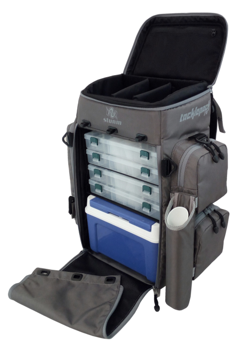 Tackle storage and management stunm tacklepack 270 for Fishing tackle box backpack