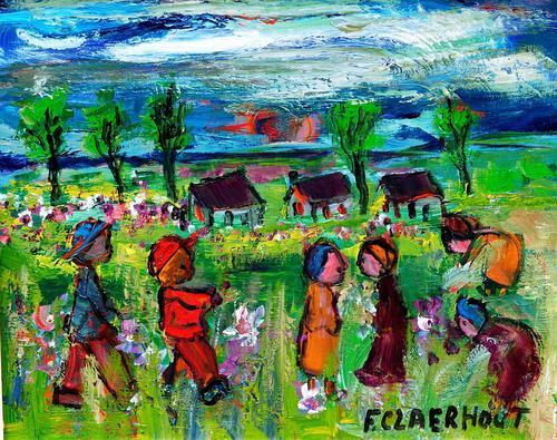 Frans Claerhout (SA 1919-2006) Pro-Digital print CLA-017 on canvas size  51-61 cm