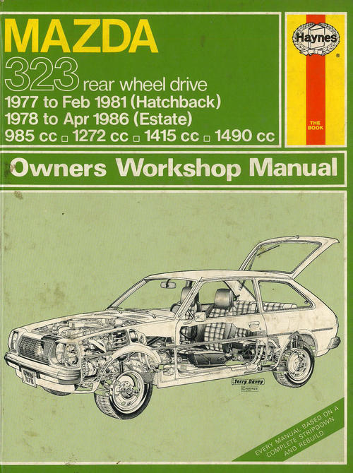 workshop manuals haynes 0370 mazda 323 rwd 1977 1986 workshop rh bidorbuy co za Mazda 323 BG 5 Mazda Familia S-Wagon