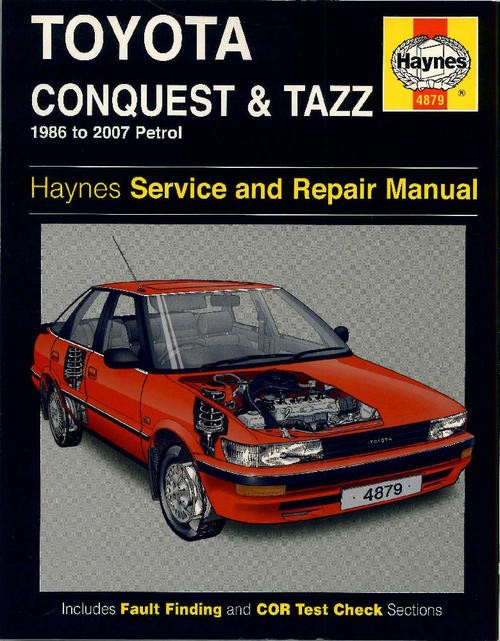 workshop manuals haynes 4879 toyota conquest tazz 1986 to 2007 rh bidorbuy co za 2005 Toyota Corolla Toyota JZ Engine