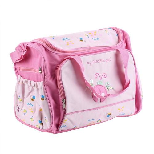 Ny Diaper Bag Set Pink Princess With Ladybug On Front