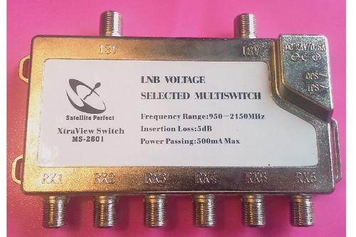 MULTISWITCH 2 X 6 for HIGH DEFINITION DSTV Decoder - XtraView (6 way)