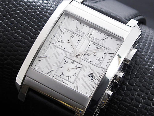 Men S Watches Only 1 Mens Burberry Square Face Chronograph W Box