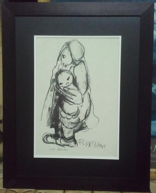 FRAMED FRANS CLAERHOUT REPRODUCTION SIGNED BY ARTIST WITH HIS INCURSIVE  SIGNATURE (MOYHER HOLD BABY) | bidorbuy co za