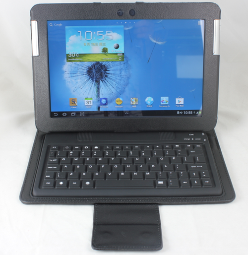 """SAMSUNG GALAXY Note 10.1"""" GT - N8000 Leather Cover Stand Case Wireless Bluetooth Keyboard"""