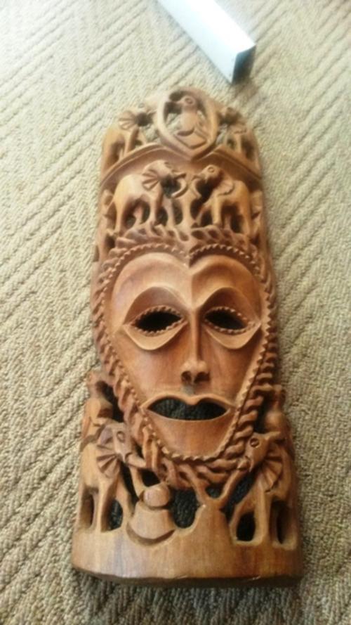 Masks wood carvings gorgeous ghana tribal vintage