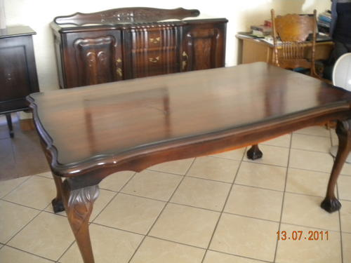 Tables Stunning Ball And Claw Imbuia 6 Seater Dining Room Table