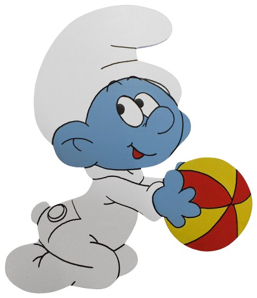wall decor smurf cut out baby smurf was sold for r43 00 on 26