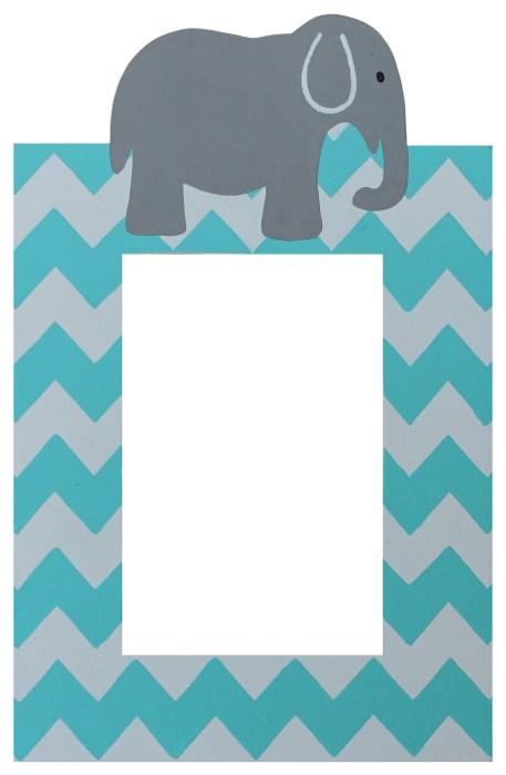 chevron elephant switch frame turquoise - Elephant Picture Frame