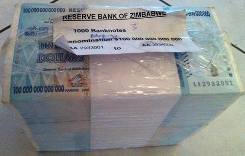 Zimbabwe 100 Trillion Dollars Aa Prefix Uncirculated 50 Banknotes
