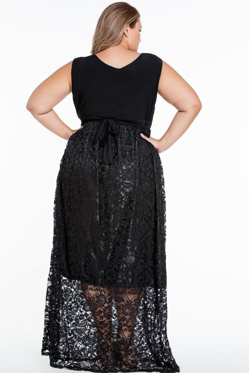 formal dresses plus size stylish floral lace maxi