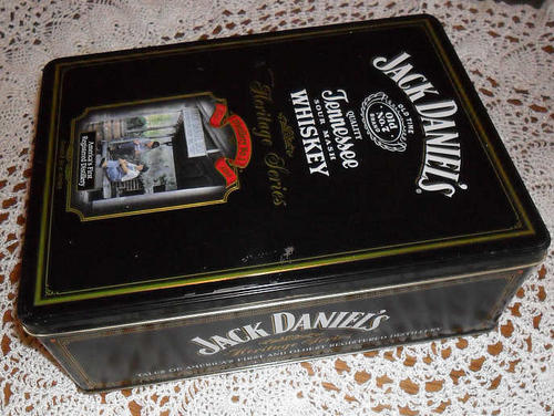 bar accessories jack daniels heritage series double tin was sold for on 17 jun at 21. Black Bedroom Furniture Sets. Home Design Ideas