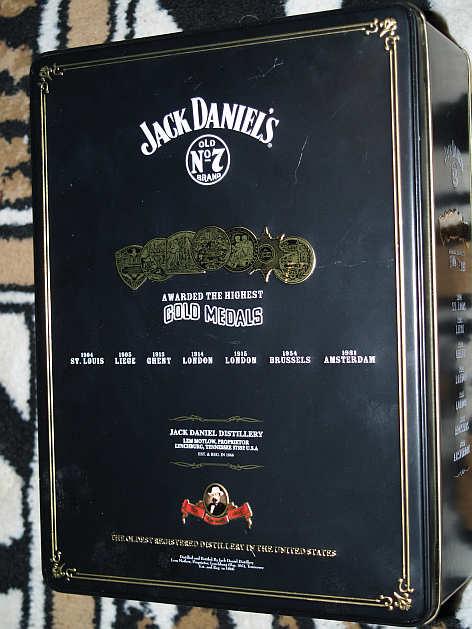 bar accessories large jack daniels tin including certificate was sold for on 29 dec at. Black Bedroom Furniture Sets. Home Design Ideas