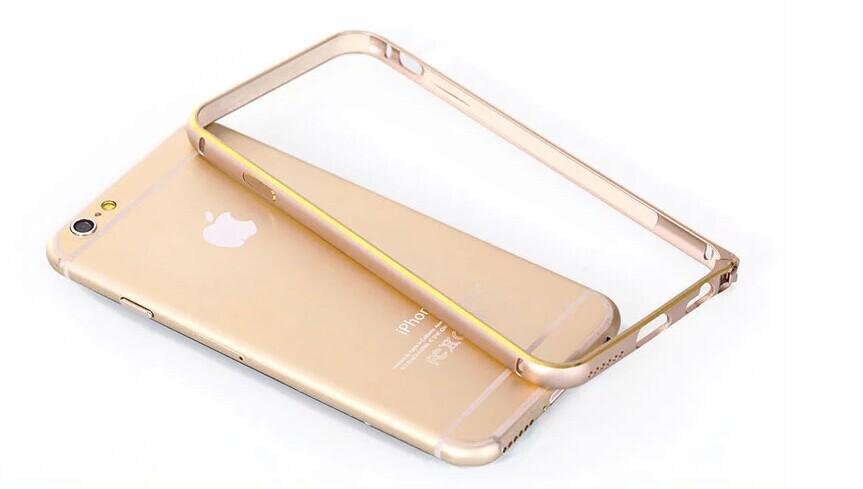 on sale d0b32 b2290 iPhone 6 Aluminum Bumper Cover Bumpers **Gold**