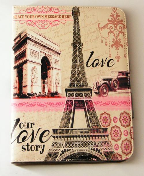 Love Story Book Cover Design ~ Accessories samsung galaxy tab book cover paris love