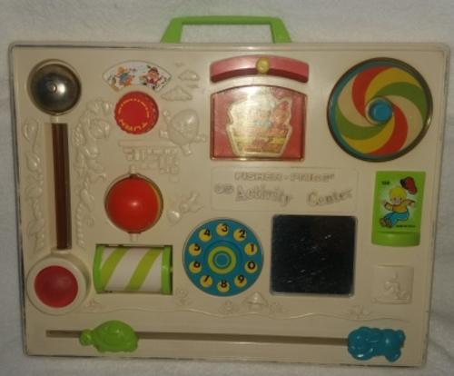 Vintage Toys Vintage 1973 Fisher Price Activity Center Busy Box
