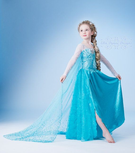 This beautiful Frozen Elsa dress comes with an extra long cape. Beautifully designed it has a sparkles on the cape and snow flake detailing on ...  sc 1 st  Bidorbuy & Dress-ups - Frozen Elsa Dress with long cape - IN STOCK - 7-9 ...