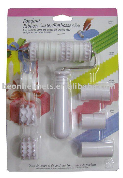 other home living fondant ribbon cutter embosser set was sold