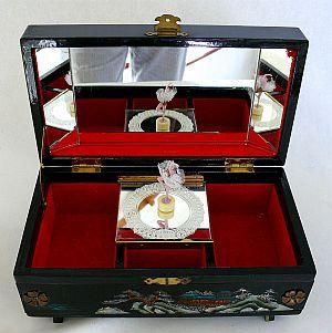 Jewellery Boxes JEWELLERY MUSIC BOX WITH DANCING BALLERINAWORKING