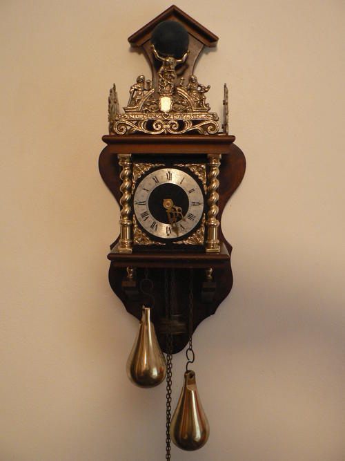 Antique Dutch Zaandam Zaanse Wall Clock