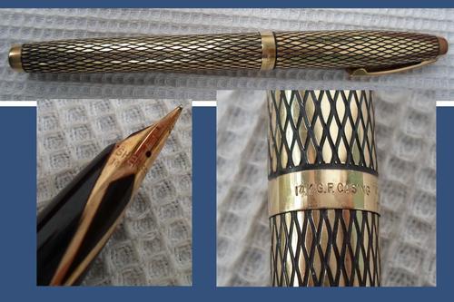 Sheaffer 444 Chrome electropate set featuring Reminder ballpoint pen